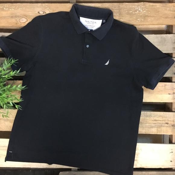 Nautica black polo shirt XL